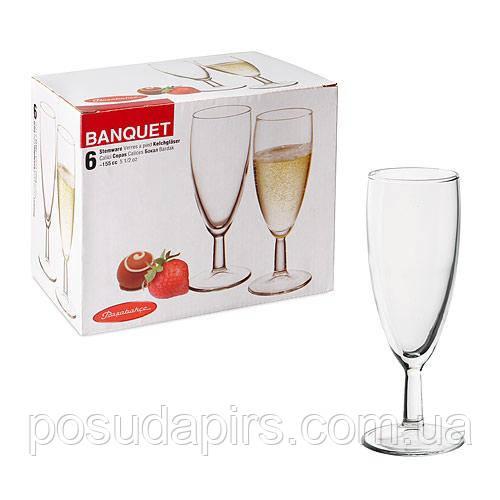 Набір келихів для шампанського (6 шт.) 155 мл Banquet 44455