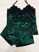 Домашний велюровый комплект майка и шортики, фото 4