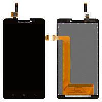 Дисплейный модуль (дисплей и сенсор) для Lenovo P780, черный, оригинал