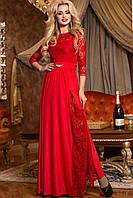 Платье женское вечернее длинное «Диана» (M, L, XL, XXL) (Черное, красное)