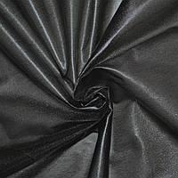 Лайкра под кожу легкая черная с блеском ш.120 ( 12533.001 )