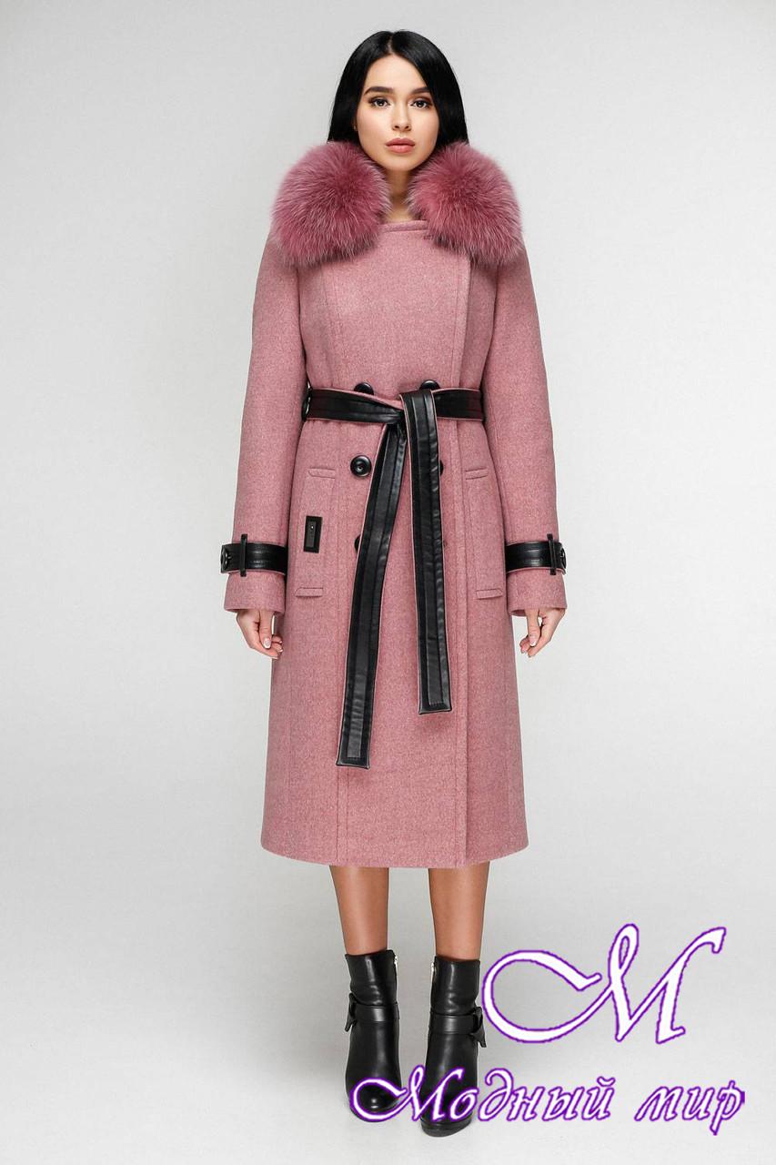 Пальто зимнее женское с мехом (р. 44-54) арт. 1157 Тон 17
