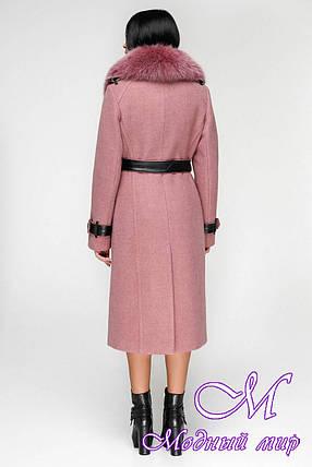 Пальто зимнее женское с мехом (р. 44-54) арт. 1157 Тон 17, фото 2
