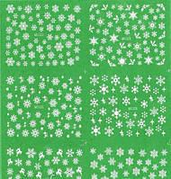 Водные наклейки снежинки, фото 1