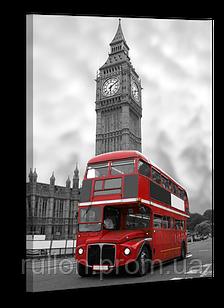 """Картина на холсте YS-Art XP111 """"Лондонский автобус на фоне Биг Бена"""" 50x70"""