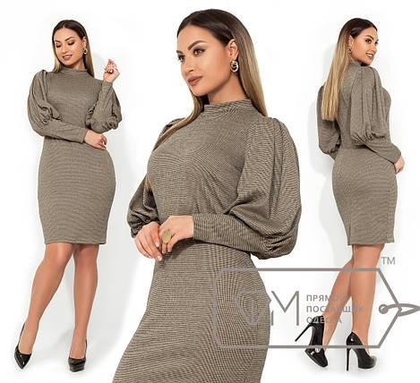9a226d10c3a6ec8 Купить Батальное платье-футляр с принтом гусиную лапку оптом и в ...