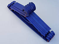 Плечики вешалки пластмассовые ПЭТ разные цвета, 41,5 см,10 штук в упаковке одного цвета фиолетовый