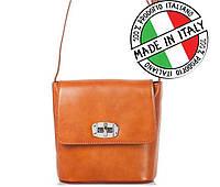 Итальянская кожаная сумка через плечо Bottega Carele