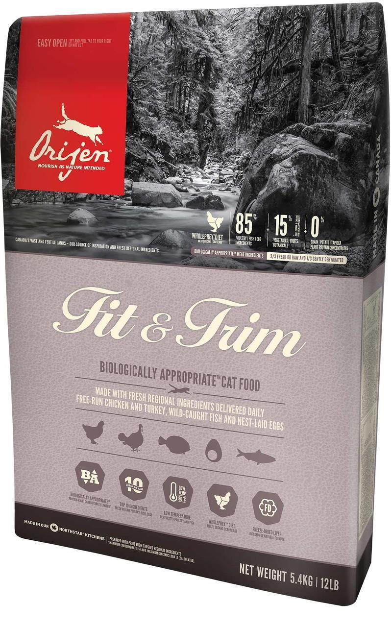 Orijen Fit & Trim ( Ориджен Фіт иТрим) - сухий корм для кішок з зайвою вагою 5,4 кг
