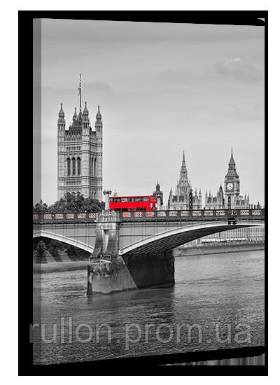 "Картина на холсте YS-Art XP115 ""Лондонский автобус на Тауэрском мосту"" 50x70"