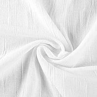 Лен коттон плотный жатый белый, ш.135