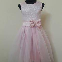 """Детское нарядное платье """"Нежность"""" 98-116."""