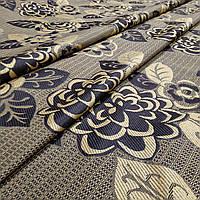 Ткань гобелен Цветок пиона золото 150 см (371541)