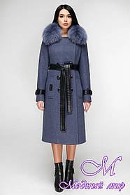Женское зимнее пальто с натуральным мехом (р. 44-54) арт. 1157 Тон 11
