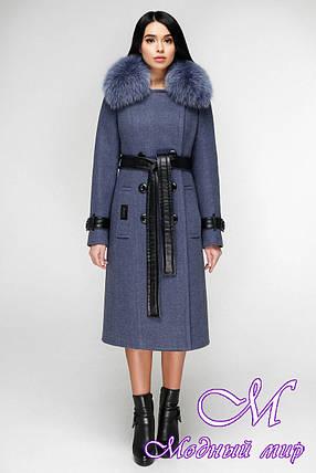 Женское зимнее пальто с натуральным мехом (р. 44-54) арт. 1157 Тон 11, фото 2