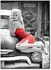 "Картина на холсте YS-Art XP118 ""Женщина на раритетном автомобиле"" 50x70          , фото 2"