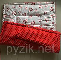 Плюшевий плед Minky з бавовняної підкладкою, червоний