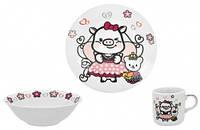 Набор посуды 3 предмета (керамика) Sweety, Limited Edition (C535)