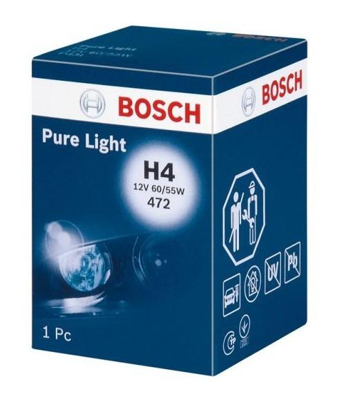 Автолампа H4 60/55W 12V Pure Light картон