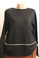 Жіноча кофта батальна з карманами, фото 1