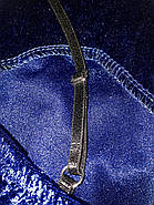 Велюровый комплект с кружевом топ и шортики, фото 3