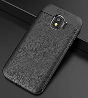 Чехол для Samsung J260 / J2 Core 2018 силикон Original Auto Focus Soft Touch черный