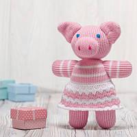 Вязаная кукла «Свинка Бусинка» ФРЕЯ