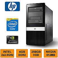 HP DX2420 - 2 ЯДРА 2x2.93GHz/ 4GB RAM/ NVIDIA 512MB DDR3/ 250GB HDD Системный блок, Компьютер, ПК