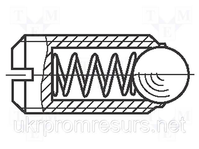 Настановний гвинт з кулькою М5х16 BN 13370
