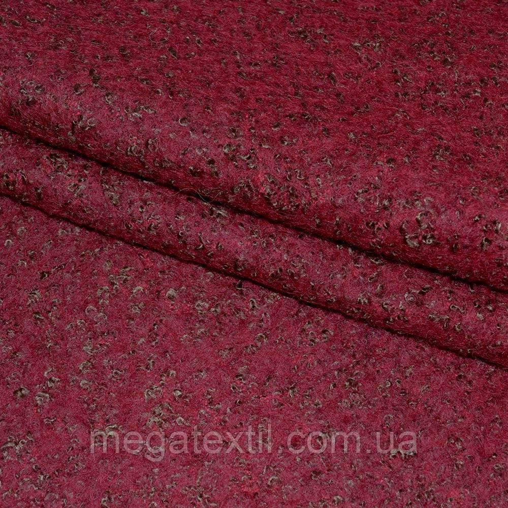 Лоден-букле бордово-коричневый ш.150