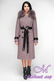 Женское зимнее пальто больших размеров (р. 44-54) арт. 1157 Тон В12