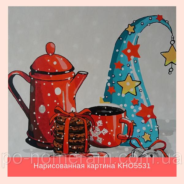 нарисованная картина своими руками для кухни