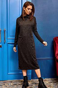 (S, M, L) Молодіжне подовжене чорне плаття Erika