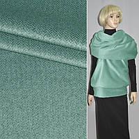 Ткань пальтовая в елочку зеленая ( 13004.003 )