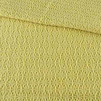 Жаккард пальтовый звездочка желтый, ш.150 (13201.002)
