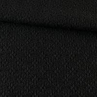 Жаккард пальтовый звездочка черный, ш.155 (13201.004)
