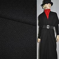 Жаккард пальтовый с шерстью звездочка черный, ш.150 (13202.001)