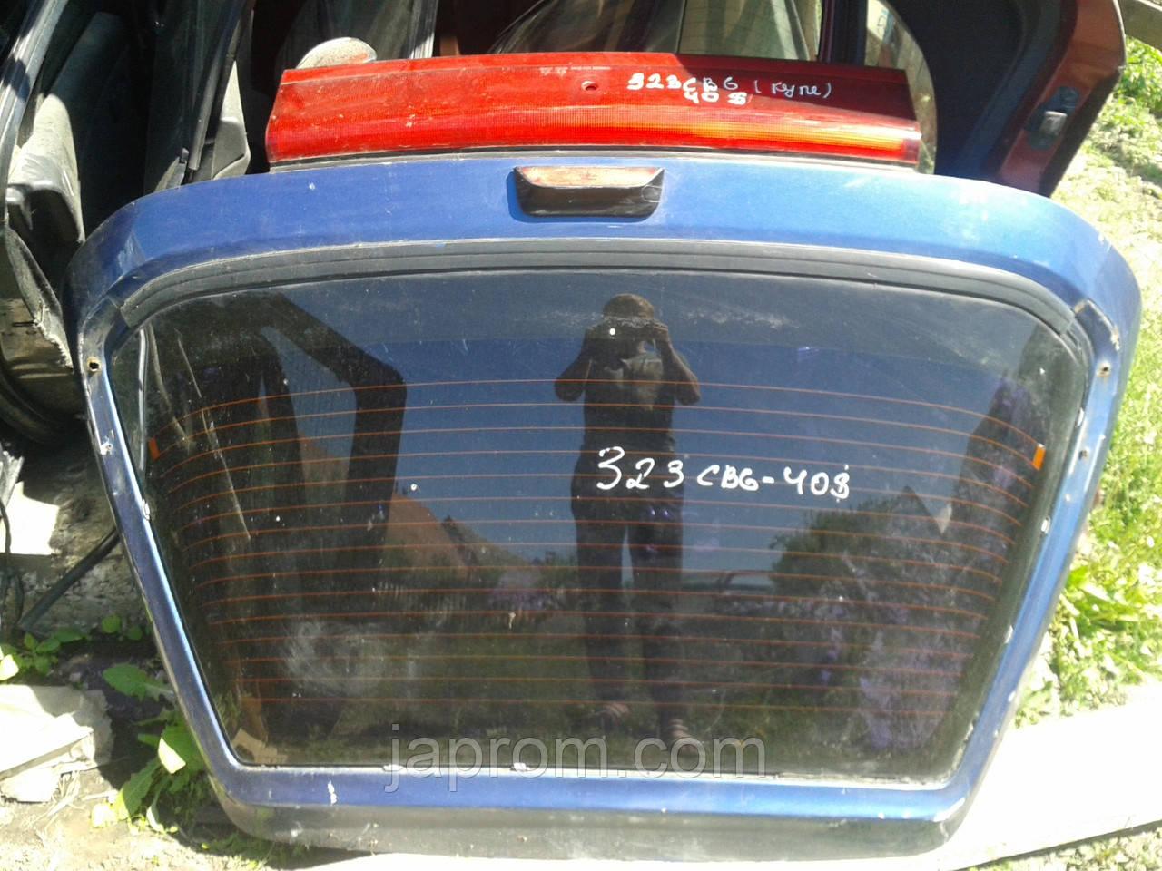 Крышка багажника со стеклом Mazda 323 C BA 1994-1997г.в. купе синяя