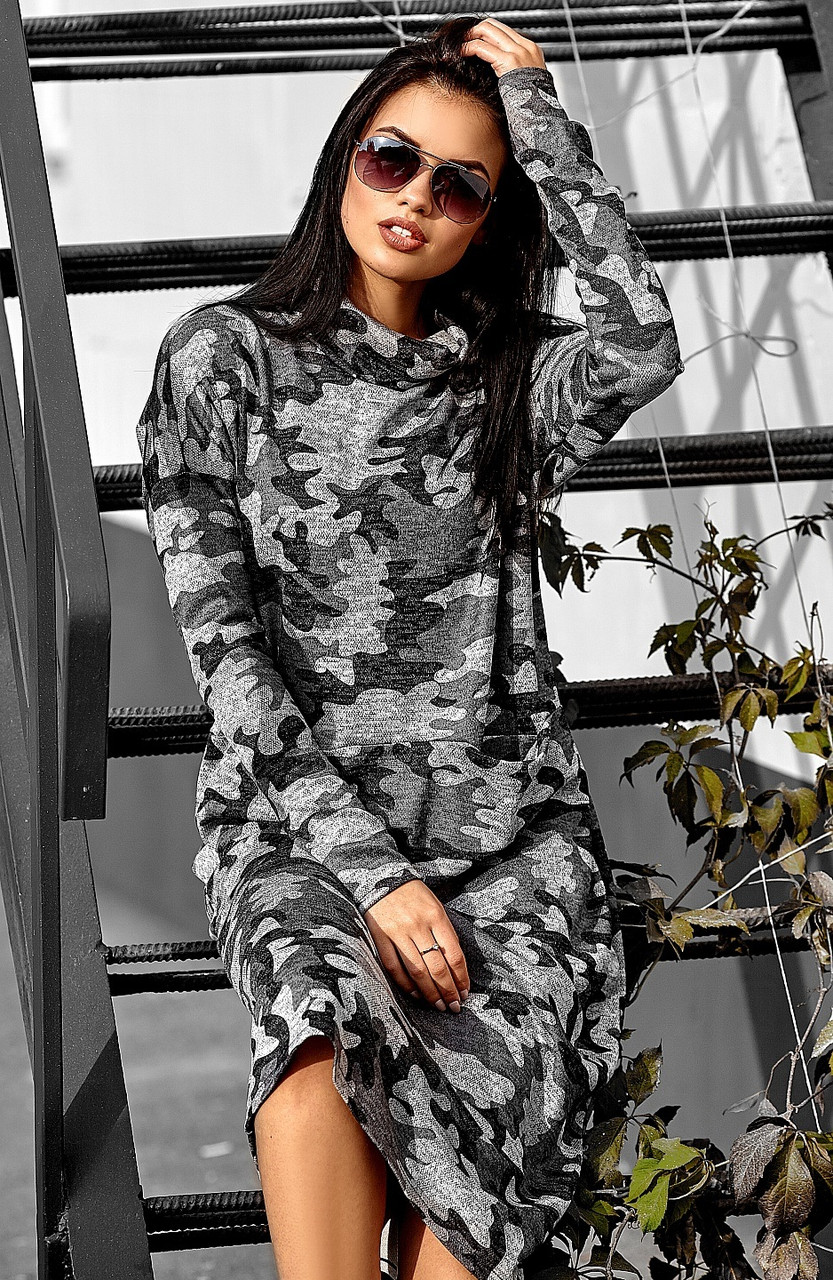 (S, M, L) Молодіжне подовжене сіре плаття Erika