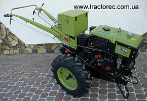 Мотоблок Zubr JR-Q78E 8 к.с з електрозапуском (комплект Фреза і плуг)