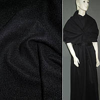 Ткань пальтовая черная на трикотажной основе ш.160 (13321.013)