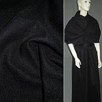 Тканина пальтова чорна на трикотажній основі ш.160 (13321.013)