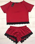 Красный комплект футболка и шортики, фото 2