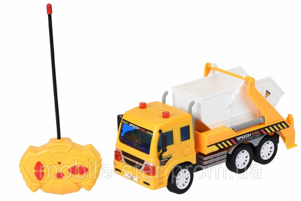 Машинка на р/у Same Toy CITY Грузовик с контейнером желтый F1606Ut