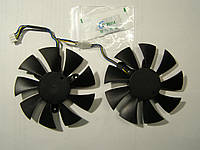 Кулер №104 ZOTAC GTX1070 GTX1080 GTX1080ti  GFY09010E12SPA  d 85мм. креп раст. 42мм. 4pin  DC12V AMP +
