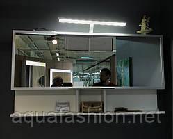 Зеркальный шкаф для ванной комнаты 1205*650*125 Fancy Marble ШЗ-Butterfly Белый