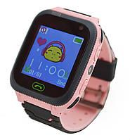 Детские умные часы с GPS UWatch F3 с фонариком и камерой розовый