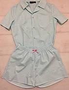 Хлопковая пижама шорты рубашка, фото 4