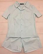 Хлопковая пижама шорты рубашка, фото 5