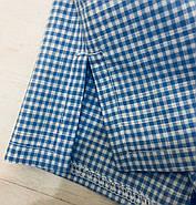 Голубая  пижама шорты рубашка в клетку, фото 7